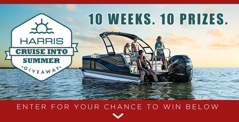 Harris Cruise into Summer Giveaway 10 weeks. 10 Prizes.